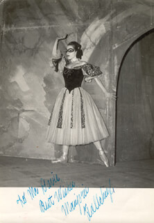 MARJORIE TALLCHIEF - AUTOGRAPHED INSCRIBED PHOTOGRAPH