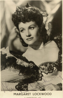 MARGARET LOCKWOOD - AUTOGRAPHED SIGNED PHOTOGRAPH