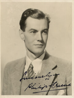 PHILIP FRIEND - AUTOGRAPHED SIGNED PHOTOGRAPH