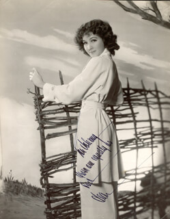 JEAN PARKER - AUTOGRAPHED INSCRIBED PHOTOGRAPH