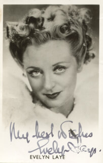EVELYN LAYE - AUTOGRAPHED SIGNED PHOTOGRAPH