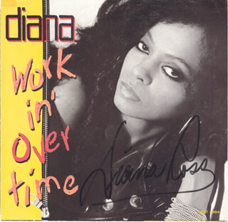 DIANA ROSS - RECORD ALBUM SLEEVE SIGNED