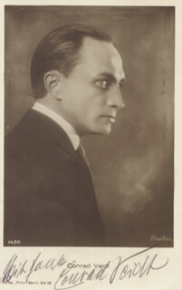CONRAD VEIDT - PICTURE POST CARD SIGNED