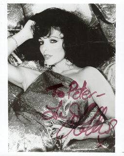 JOAN COLLINS - AUTOGRAPHED INSCRIBED PHOTOGRAPH