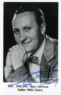 ERIC SHILLING - AUTOGRAPHED SIGNED PHOTOGRAPH