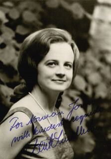 BERIT LINDHOLM - AUTOGRAPHED INSCRIBED PHOTOGRAPH CIRCA 1973