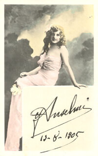 GIUSEPPE ANSELMI - PICTURE POST CARD SIGNED 12/08/1905