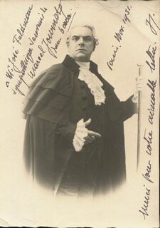 MARCEL JOURNET - AUTOGRAPHED INSCRIBED PHOTOGRAPH 11/1931