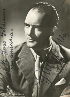 GIULIO NERI - AUTOGRAPHED INSCRIBED PHOTOGRAPH 1956