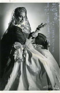 MAGDA OLIVERO - AUTOGRAPHED INSCRIBED PHOTOGRAPH 1954
