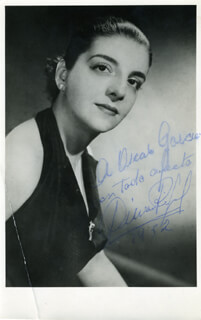DELIA RIGAL - AUTOGRAPHED INSCRIBED PHOTOGRAPH 1952