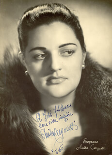 ANITA CERQUETTI - AUTOGRAPHED SIGNED PHOTOGRAPH 01/09/1960