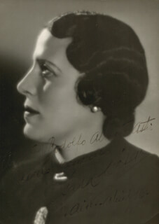 SARA CESAR - AUTOGRAPHED INSCRIBED PHOTOGRAPH 04/16/1935