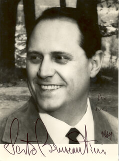 SESTO BRUSCANTINI - AUTOGRAPHED INSCRIBED PHOTOGRAPH 1969
