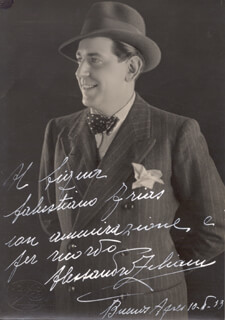 ALESSANDRO ZILIANI - AUTOGRAPHED INSCRIBED PHOTOGRAPH 05/10/1933