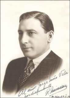 PEDRO MIRASSOU - AUTOGRAPHED INSCRIBED PHOTOGRAPH 06/29/1934