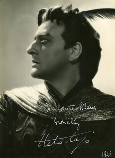 ITALO TAJO - AUTOGRAPHED INSCRIBED PHOTOGRAPH 1969