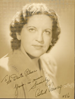 ASTRID VARNAY - AUTOGRAPHED INSCRIBED PHOTOGRAPH 1946