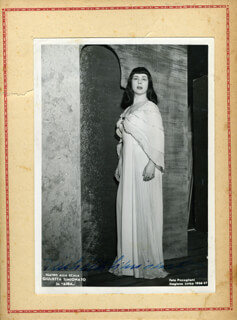 GIULIETTA FRUGONI SIMIONATO - AUTOGRAPHED SIGNED PHOTOGRAPH