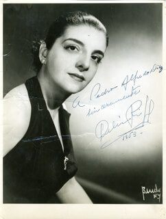 DELIA RIGAL - AUTOGRAPHED INSCRIBED PHOTOGRAPH 1953