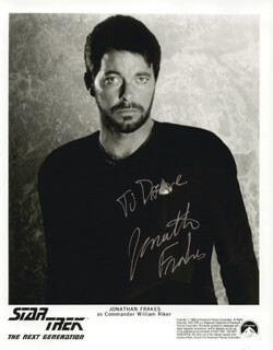 JONATHAN FRAKES - AUTOGRAPHED INSCRIBED PHOTOGRAPH