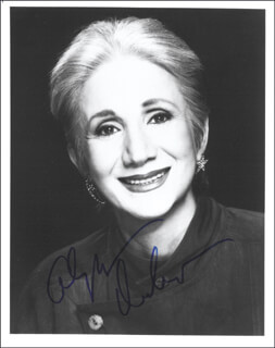 OLYMPIA DUKAKIS - AUTOGRAPHED SIGNED PHOTOGRAPH