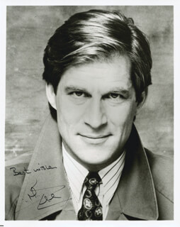 SIMON MacCORKINDALE - AUTOGRAPHED SIGNED PHOTOGRAPH