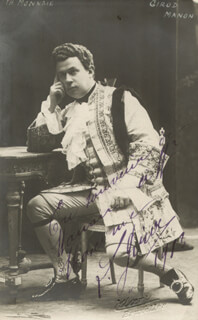 LOUIS GIROD - AUTOGRAPHED INSCRIBED PHOTOGRAPH 1913