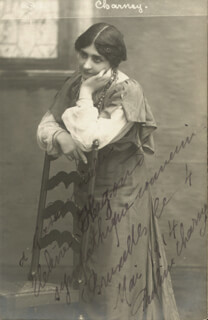 PAULINE CHARNEY - AUTOGRAPHED SIGNED PHOTOGRAPH 05/1914