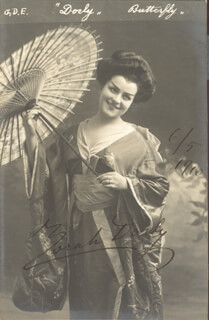 ZORAH DORLY - PICTURE POST CARD SIGNED 05/06/1910