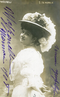 ESTER MAZZONELLI - INSCRIBED PICTURE POSTCARD SIGNED CIRCA 1908