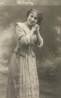 ALICE BERELLY - AUTOGRAPHED INSCRIBED PHOTOGRAPH 1912
