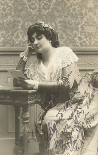 PAULINE CHARNEY - AUTOGRAPHED SIGNED PHOTOGRAPH 05/04/1914