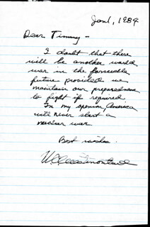 GENERAL WILLIAM C. WESTMORELAND - AUTOGRAPH LETTER SIGNED 01/01/1984