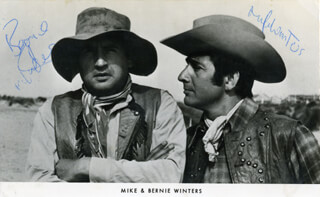 MIKE WINTERS - AUTOGRAPHED SIGNED PHOTOGRAPH CO-SIGNED BY: BERNIE WINTERS