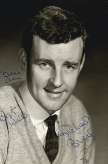 RICHARD BRIERS - AUTOGRAPHED INSCRIBED PHOTOGRAPH 1972