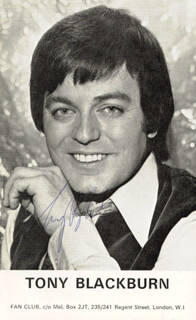 TONY BLACKBURN - INSCRIBED PRINTED PHOTOGRAPH SIGNED IN INK