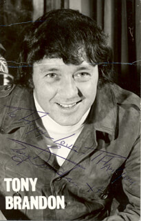 TONY BRANDON - AUTOGRAPHED INSCRIBED PHOTOGRAPH