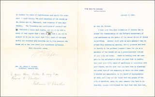 PRESIDENT WILLIAM H. TAFT - TYPED LETTER SIGNED 01/03/1910 CO-SIGNED BY: EDWIN P. PARKER