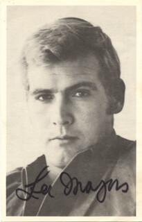LEE MAJORS - PICTURE POST CARD SIGNED