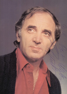 Autographs: CHARLES AZNAVOUR - PHOTOGRAPH SIGNED