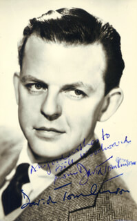 DAVID TOMLINSON - AUTOGRAPHED SIGNED PHOTOGRAPH