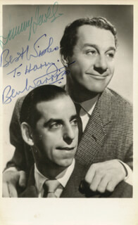 JEWEL & WARRISS - AUTOGRAPHED SIGNED PHOTOGRAPH CO-SIGNED BY: JEWEL & WARRISS (JIMMY JEWEL), JEWEL & WARRISS (BEN WARRISS)