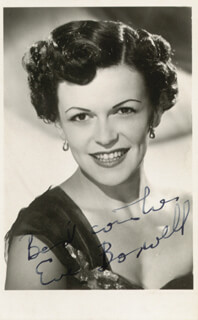 EVE BOSWELL - AUTOGRAPHED SIGNED PHOTOGRAPH
