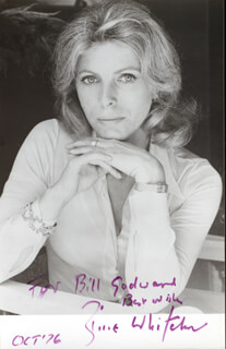 BILLIE WHITELAW - AUTOGRAPHED INSCRIBED PHOTOGRAPH 10/1976