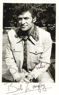 BOB LANGLEY - AUTOGRAPHED SIGNED PHOTOGRAPH