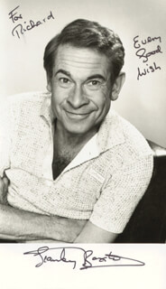 STANLEY BAXTER - AUTOGRAPHED INSCRIBED PHOTOGRAPH