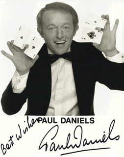 PAUL DANIELS - AUTOGRAPHED SIGNED PHOTOGRAPH