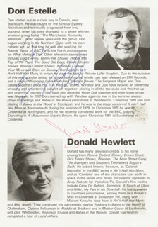 DON ESTELLE - BIOGRAPHY SIGNED CO-SIGNED BY: DONALD HEWLETT