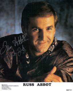 RUSS ABBOT - AUTOGRAPHED INSCRIBED PHOTOGRAPH